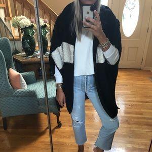 TopShop side slit cape jacket